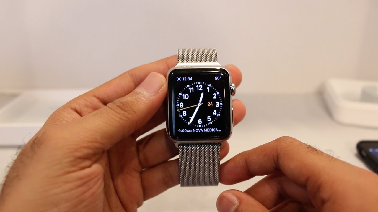 sports shoes 4075c b7cdf Apple Watch 42mm Stainless Steel Milanese Loop Unboxing/Setup