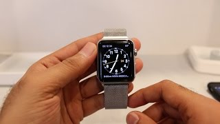 Apple Watch 42mm Stainless Steel Milanese Loop Unboxing/Setup