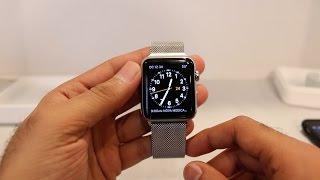 Apple Watch 42mm Stainless Steel Milanese Loop Unboxing/Setup