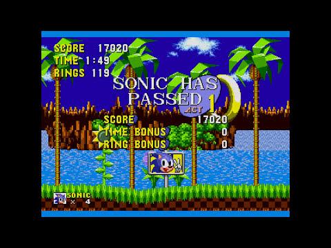 Sonic The Hedgehog (Mega Drive) Gameplay: Demo Tracks Edition