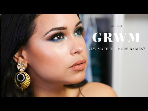 GRWM CHIT CHAT - New Makeup | New house | More babies?