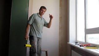 Отделка лоджии своими руками.  Обои+ покраска, как я это делаю один.