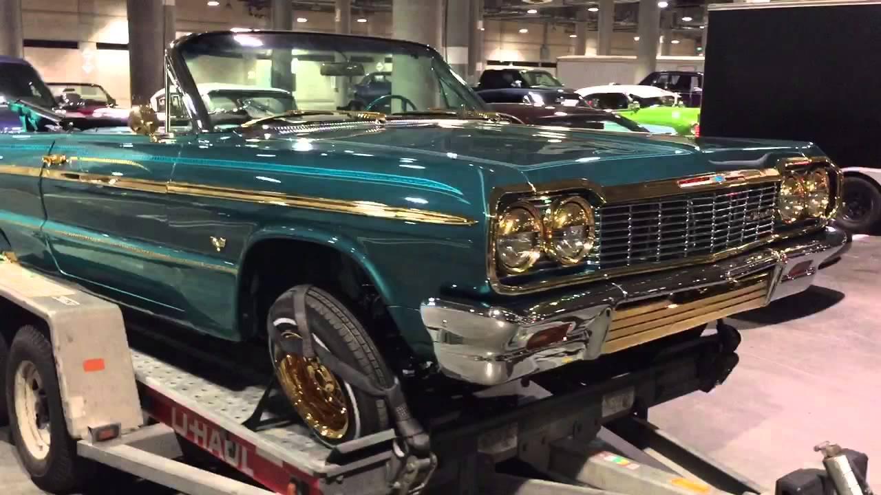 64 impala on gold wires - YouTube