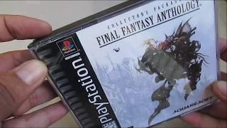 Review Unboxing Final Fantasy Anthology Ps1 Original.