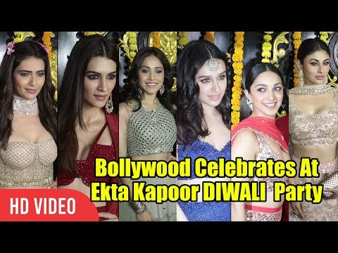 Shraddha Kapoor Kriti Sanon And Kiara Advani At Ekta Kapoor DIWALI Party 2018