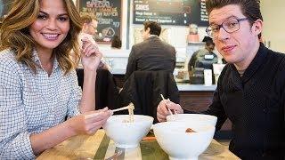 Ramen & Dating: Chrissy Teigen & Justin Warner Meet IRL on Two Top