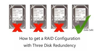 How to Get a Three Disk Redundant RAID - THREE disk fault tolerance