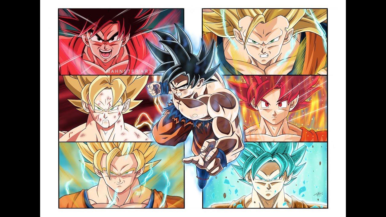 Drawing the evolution of goku dragon ball super ultra instinct universe 7 mahnster art - Goku ultra instinct sketch ...
