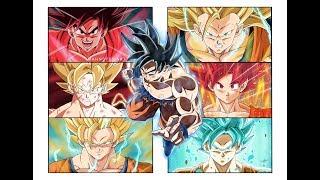 Drawing THE EVOLUTION OF GOKU | Dragon Ball Super | Ultra Instinct | Universe 7 | Mahnster Art