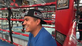 Robert Garcia Funny Story From La Colonia Gym - EsNews Boxing