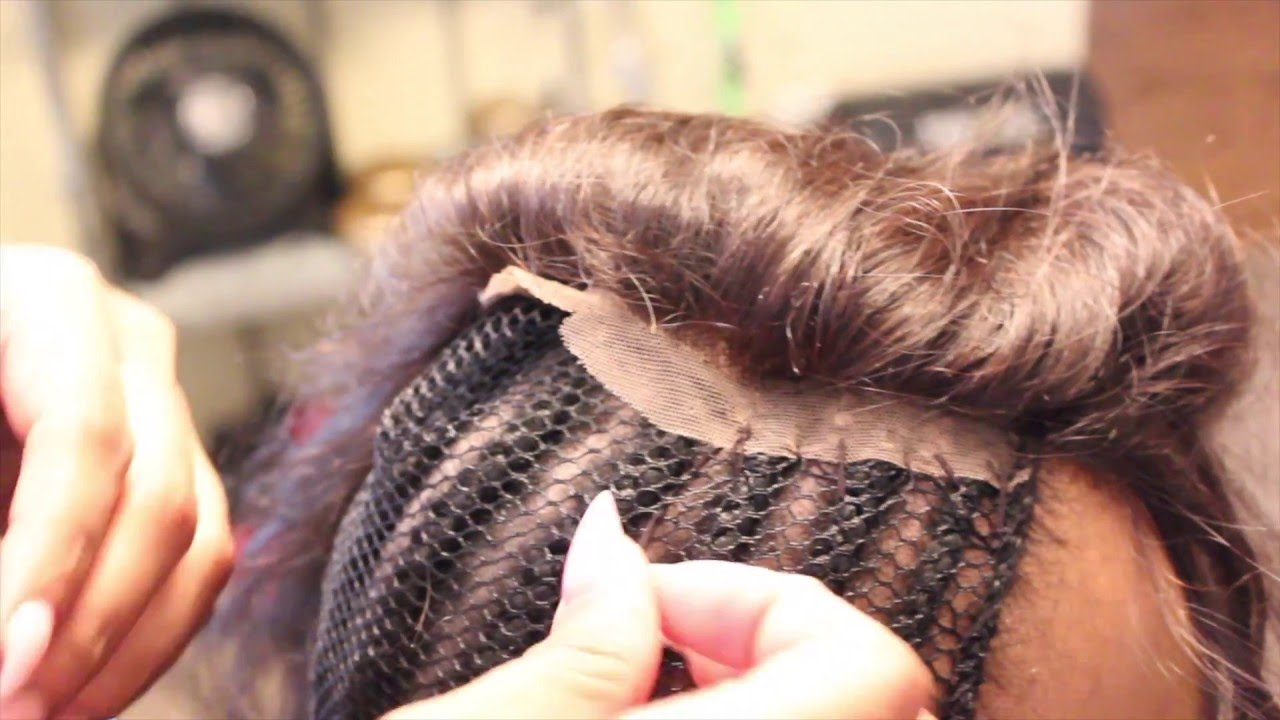 How To Sew Inlace Closure Youtube