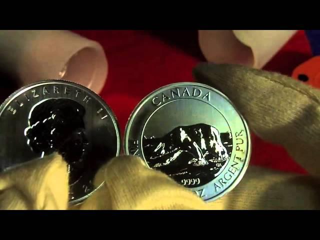 Silbermünze mit 1 1/2 Unzen der Polarbär, Silber der Royal Canadian Mint