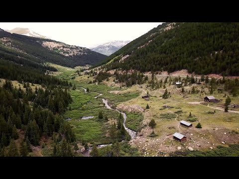 Gold Rush Ghost Town Drone Footage