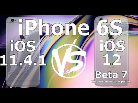 "Speed Test : iPhone 6S : iOS 12 Beta 7 ""The bad version"" vs iOS 11.4.1 ( Build # 16A5354b) - 동영상"