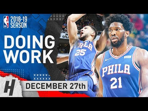Ben Simmons Triple-Double & Joel Embiid SICK Highlights vs Jazz 2018.12.27 - DOING WORK!
