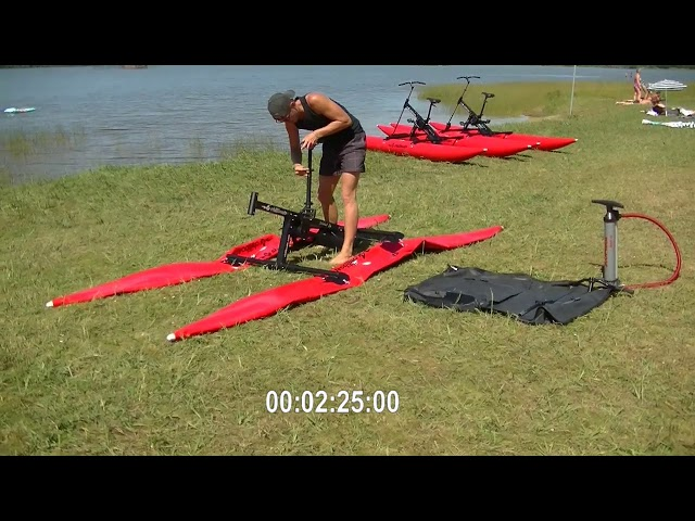 How to assemble a BikeBoat fast and easy (waterbike)