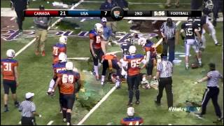 USA vs Canada 2013 FBU International Football Bowl