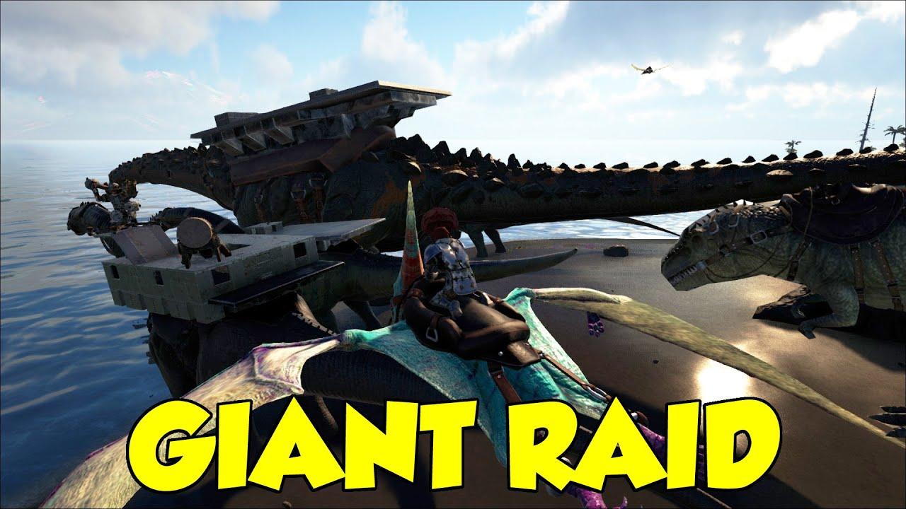 Ark Giant Raid! TITAN, GIGA'S, QUET'Z'S, Boat Battles & Terra's