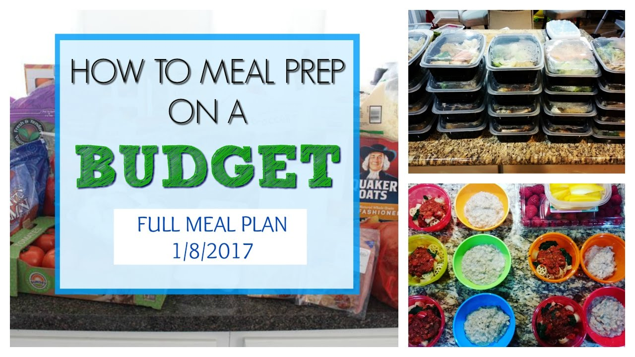 how to meal prep on a budget 100 for a family of 4 youtube
