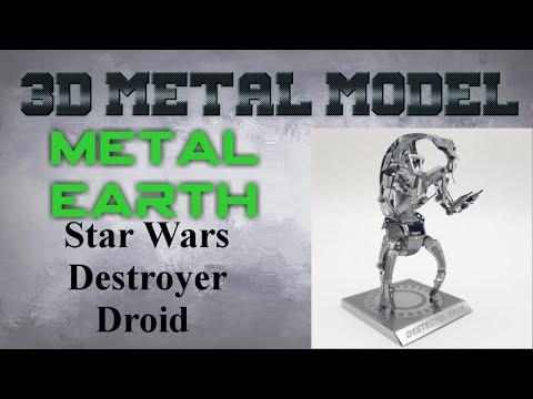 Metal Earth Build - Star Wars Destroyer Droid