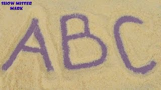 ABC song for Children | Sand ABC for Kids | ABC writing on the Sand