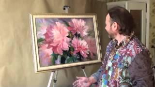 Игорь Сахаров  Мастер класс живописи  Пишем пионы