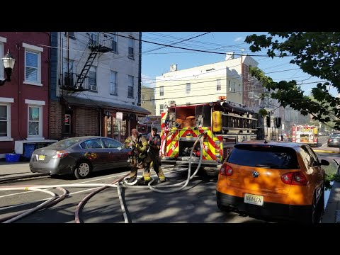 Jersey City NJ Fd 2nd Alarm Structure Fire (3rd St) W/FD Audio 6-14-18