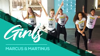 Girls - Marcus & Martinus ft Madcon - Easy Kids Fitness Dance - Warming-up Choreography