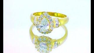 кольцо с бриллиантами по кругу