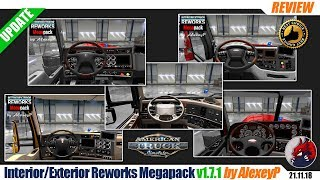 "[""ATS"", ""American Truck Simulator"", ""modifications"", ""tuning mod"", ""Interior Exterior Reworks Megapack"", ""by AlexeyP""]"