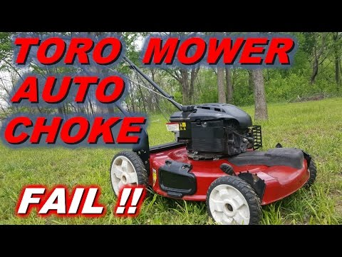 Toro lawnmower with a Briggs and Stratton engine runs rough