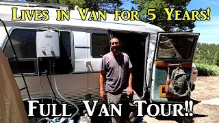 Nomad Lives in Van for 5 Years! - Full Van Tour