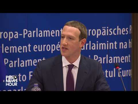 WATCH LIVE: Mark Zuckerberg testifies before the European Parliament