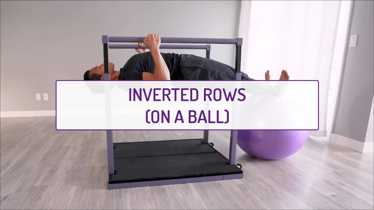 Home Exercises | Inverted Rows (on a ball) | Strength | Back & Core