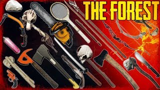 hOW TO GET EVERY WEAPON IN THE FOREST! (v1.05 - 2018)