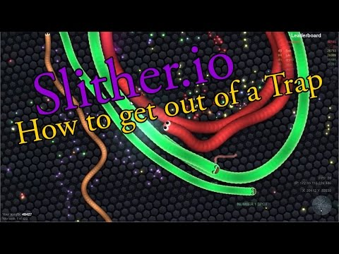 How To Get Out Of A Snake Circle Trap In Slither.io