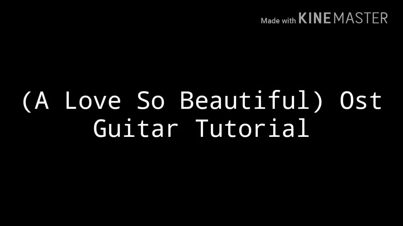 A Love So Beautiful Opening Theme Easy Guitar Tutorial Youtube