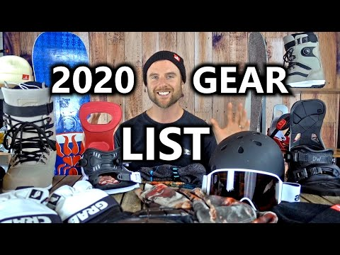 My 2020 Snowboard Gear List