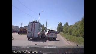 Автомобиль спасателей попал в ДТП. Северодвинск.