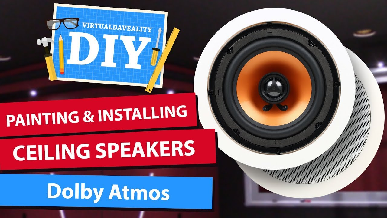 painting and installing dolby atmos ceiling speakers diy home