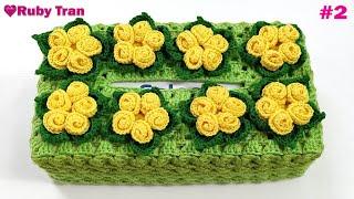 Hướng Dẫn Móc Áo Hộp Khăn Giấy Hình Chữ Nhật #2   Crochet Tissue Box Cover Handmade