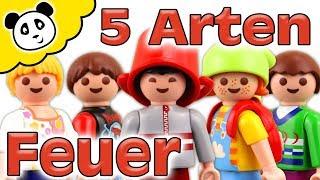 Playmobil Feuerwehr - 5 ARTEN FEUER LÖSCHEN - Playmobil Film