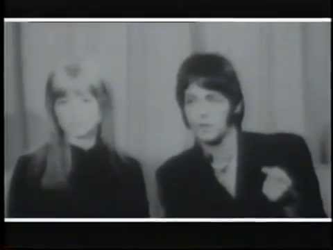 Paul McCartney & Jane Asher - (BBC News) (26.03.1968) London Airport, Heathrow