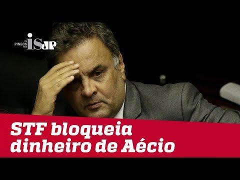 Aécio Neves tem dinheiro bloqueado pelo STF