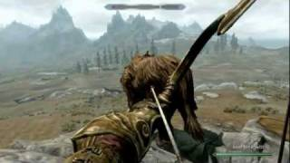 Skyrim: How To Kill Strong Monsters Easily. (EASY ARCHERY XP)
