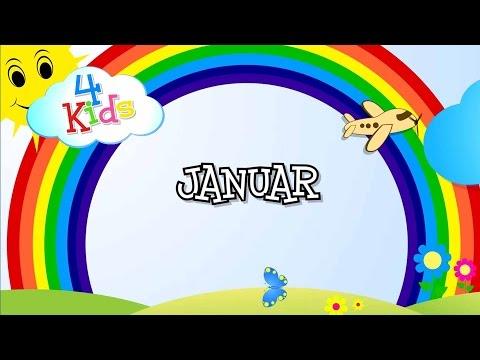 Monate lernen für Kinder durch vorsprechen auf Deutsch. Alle 12 Monate des Jahres