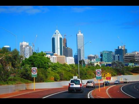 High Speed Drive Northbridge Tunnel and Graeme Farmer Freeway Drive Perth Western Australia