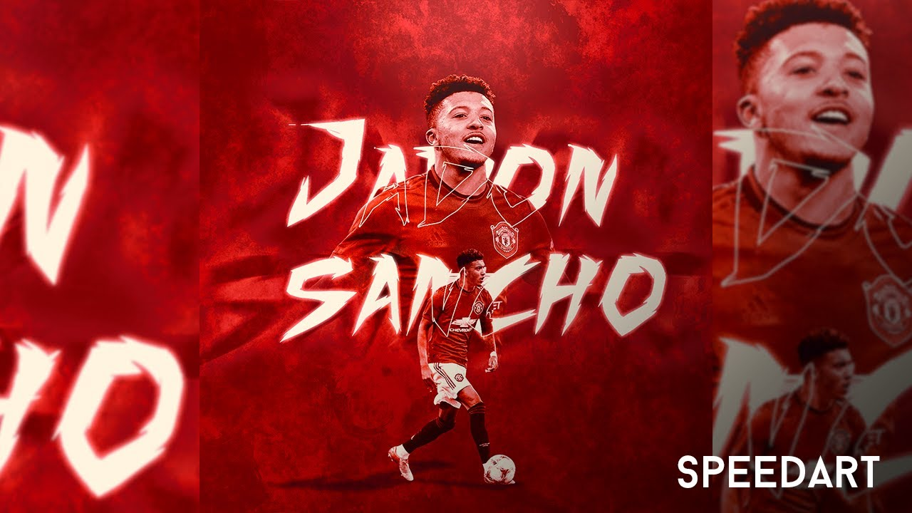 How To Make A Football Edit Jadon Sancho To Manchester United Photoshop Speedart Youtube