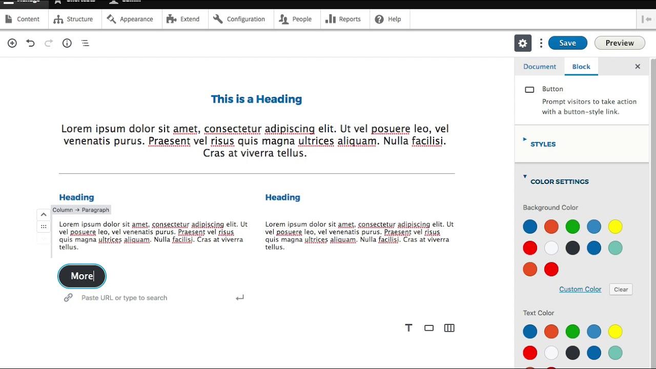 Gutenberg on Drupal 8