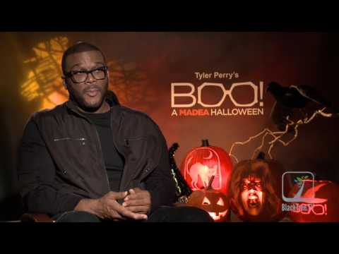 Tyler Perry interview for BOO! A MADEA HALLOWEEN